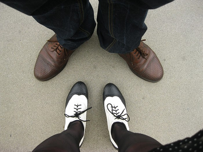 Fashion Blogger Vintage Feet Brogues Oxfords Shoes boyfriend