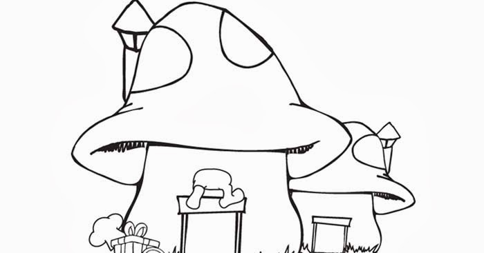 Smurf House coloring page | Free Coloring Pages and Coloring Books ...