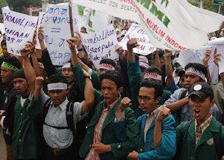 Demo Mahasiswa Menolak BBM
