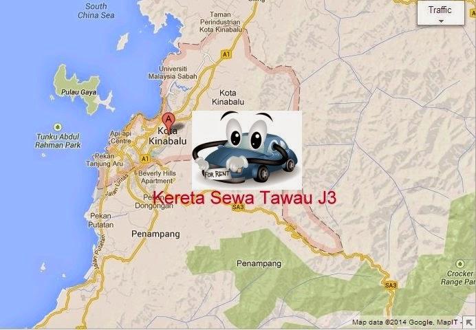 Kereta Sewa Tawau di Kota Kinabalu