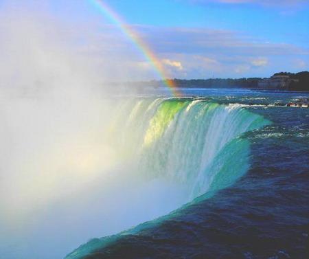 Mơ thấy bay trong buổi chiều tà qua thác nước & núi cao
