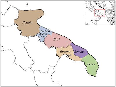 Mappa Provincia di Puglia