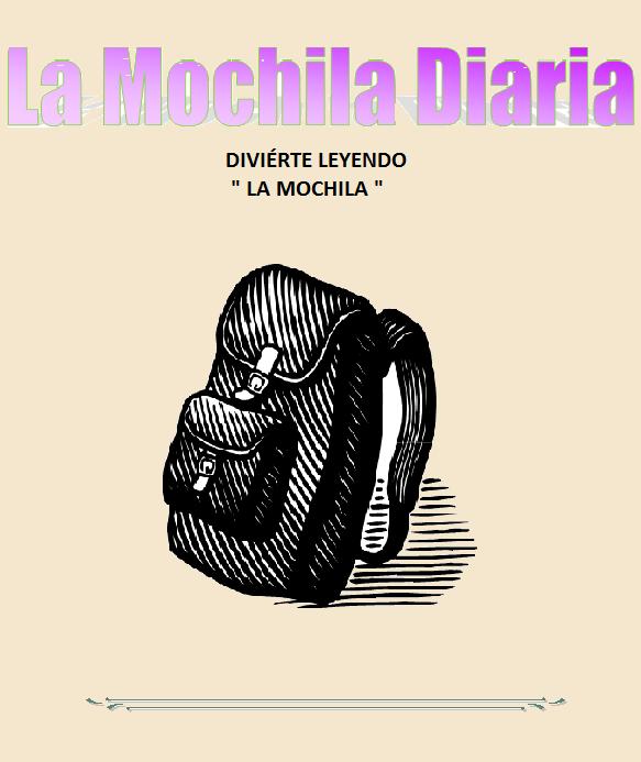 LA MOCHILA DIARIA