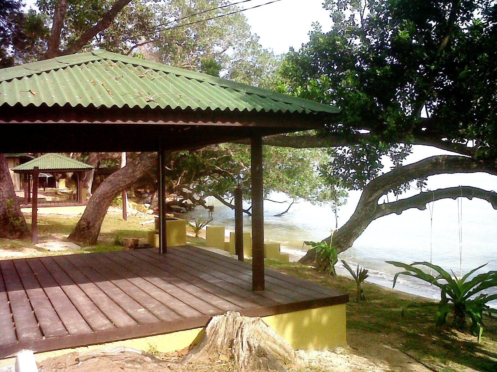 beach frontage benches new additional facilities for umangumang chalet