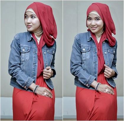 Tutorial Hijab Pashmina Sifon Polos Modis