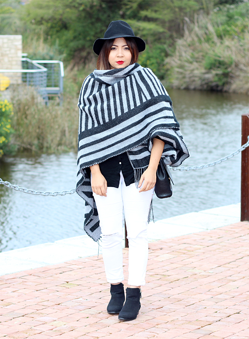 blanket cape, winter fashion, fashion blogger cape town