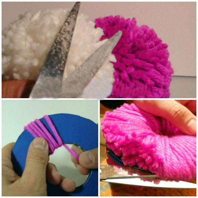 Diy c mo hacer unos pompones de lana por miguel ngel - Como hacer pompones de lana rapido ...