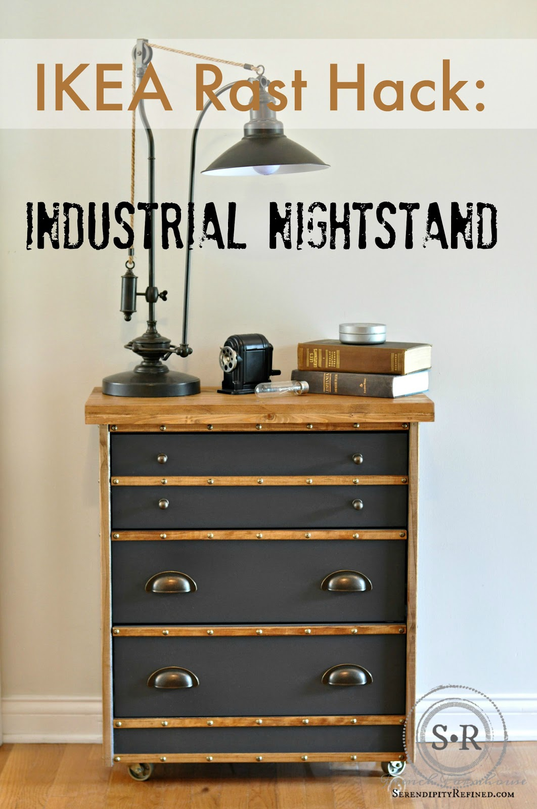 Serendipity Refined Blog IKEA Rast Hack Industrial Nightstand
