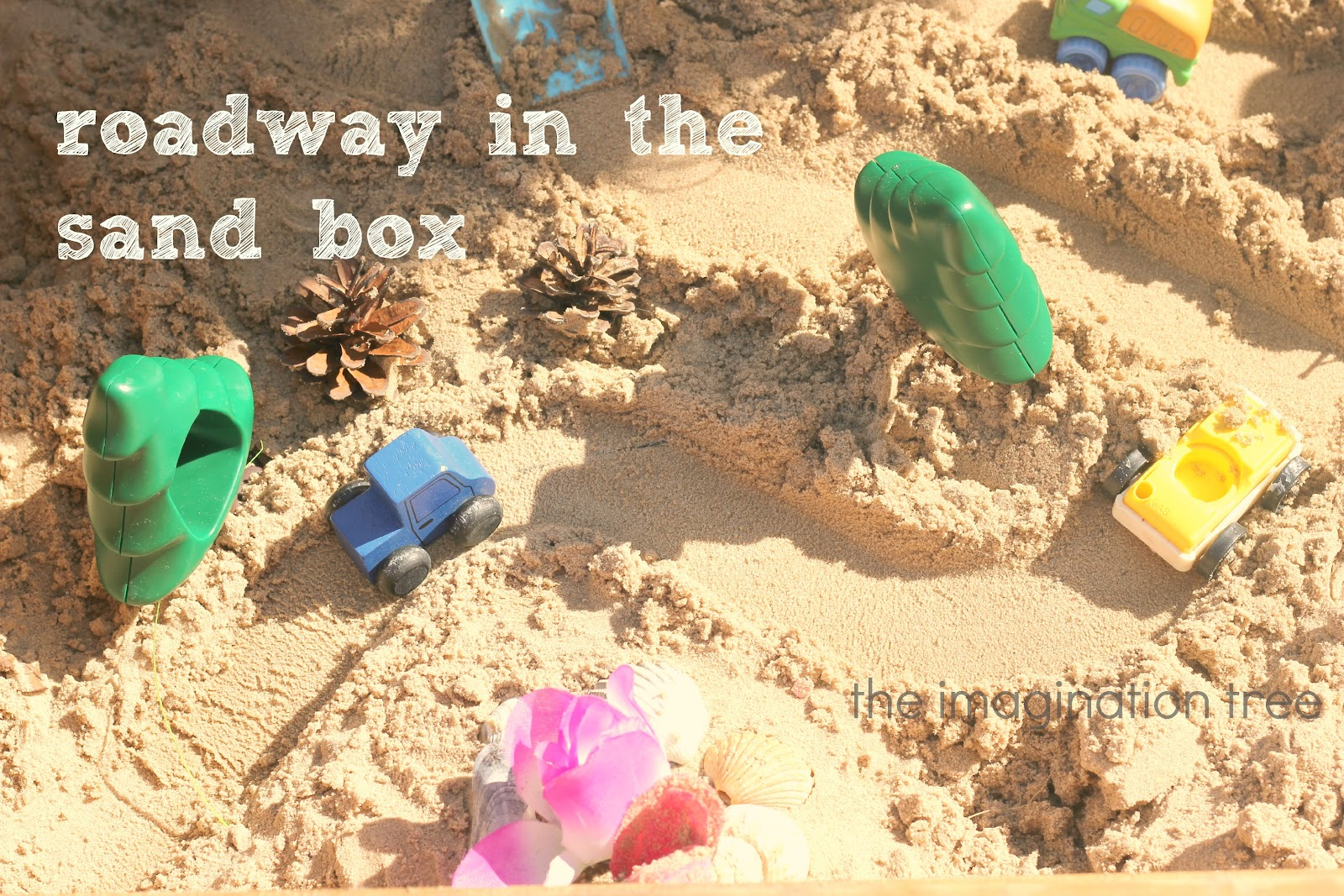 Sand Play Ideas with Loose Parts - The Imagination Tree