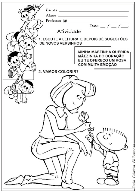 Atividade Dia das Mães para Educação Infantil