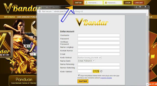 Image of Cara Daftar BandarQ VBandar Terpercaya