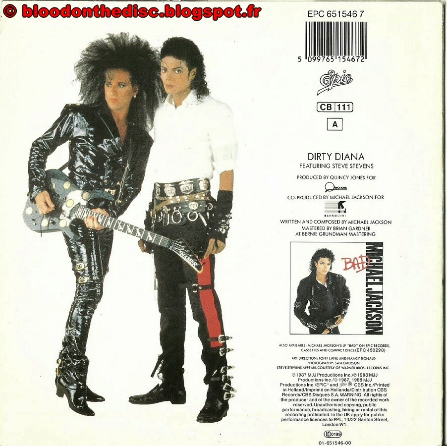 Dirty Diana 45T Back Cover