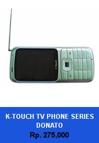 Daftar HP Murah K-Touch TV Phone Series Donato - wedhanguwuh.com