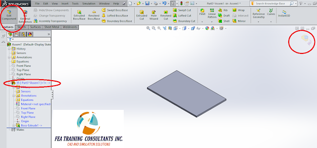 modeling in assembly solidworks