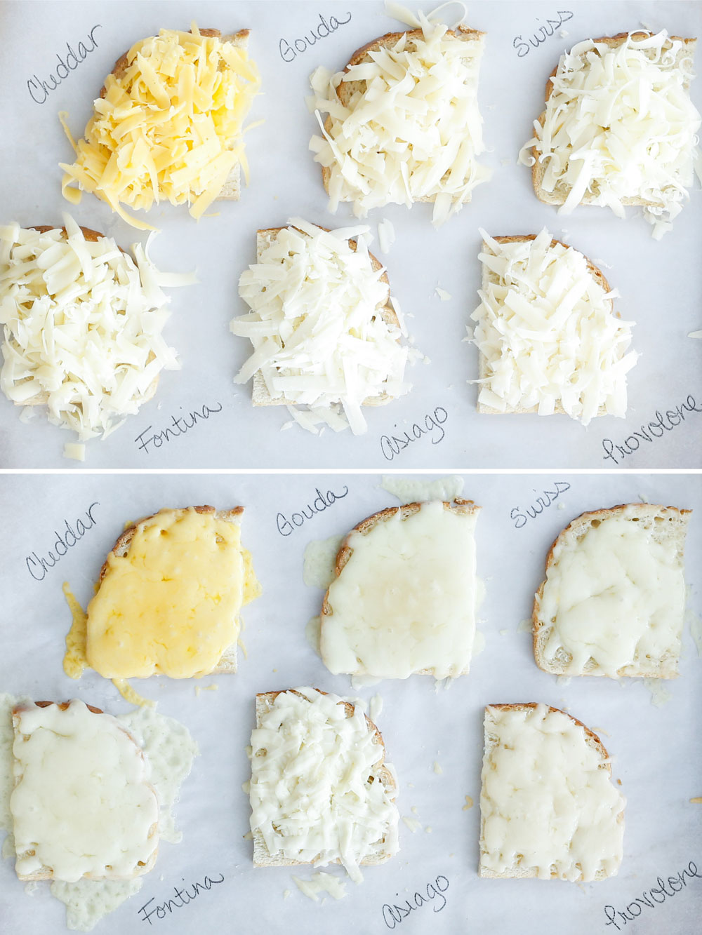 {Step-byStep} Guide To Making Perfect Grilled Cheese, which cheese melts better? - by barefeetinthekitchen.com