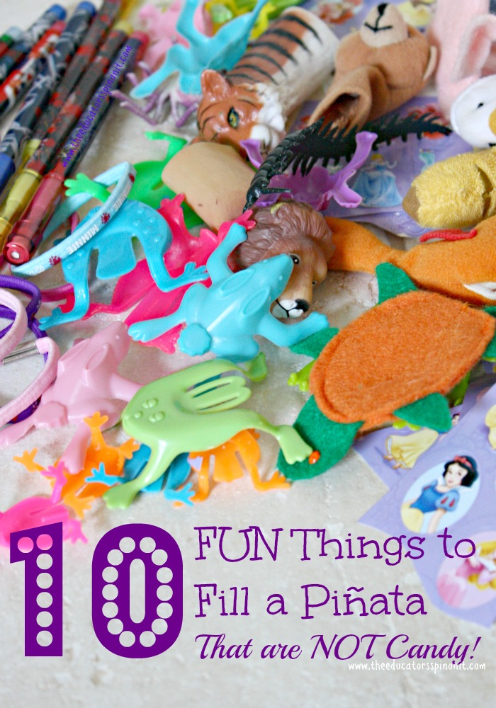 10 Fun Things to Fill a Children's Pinata with That Are NOT Candy! Healthy options for kids parties.