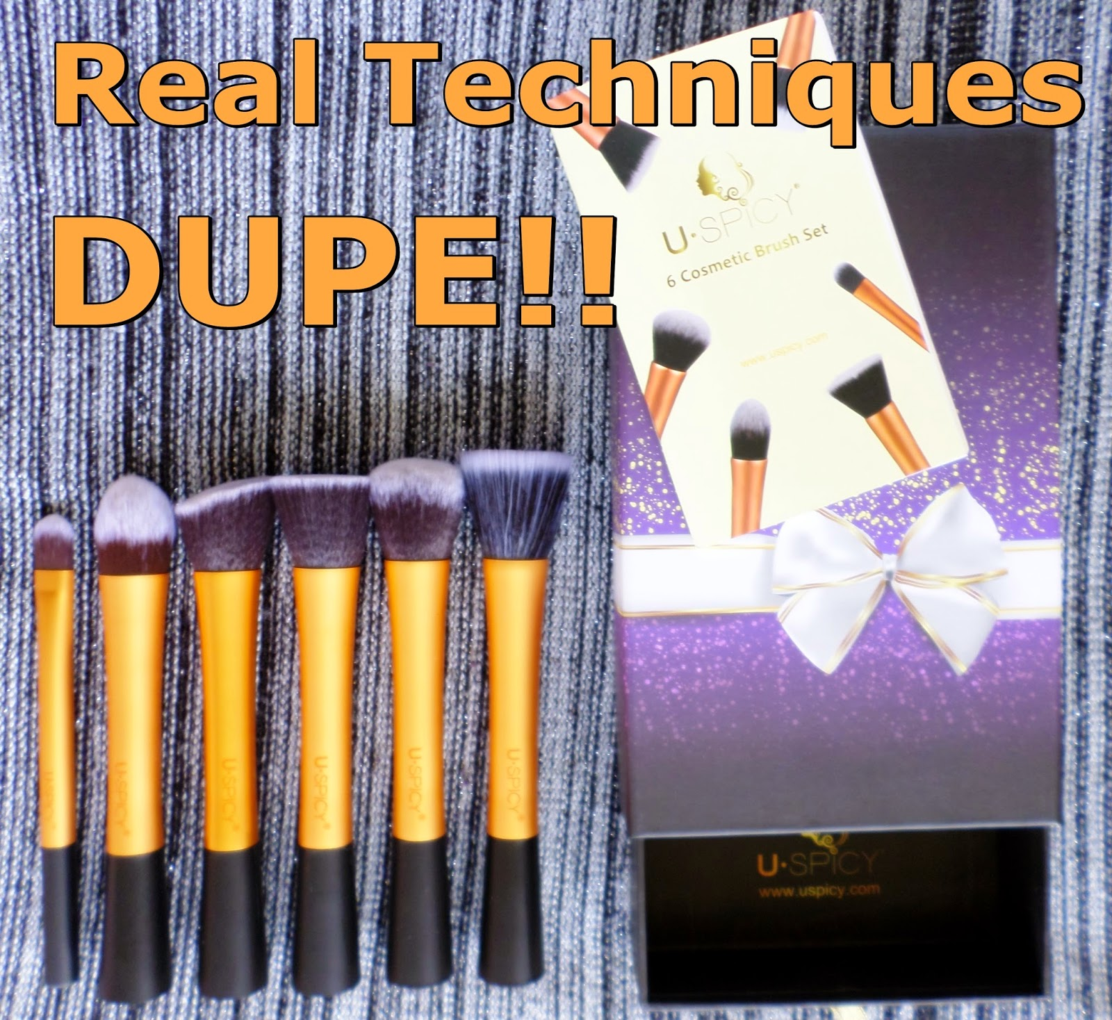 USpicy Makeup Brushes Review Real Techniques Dupe