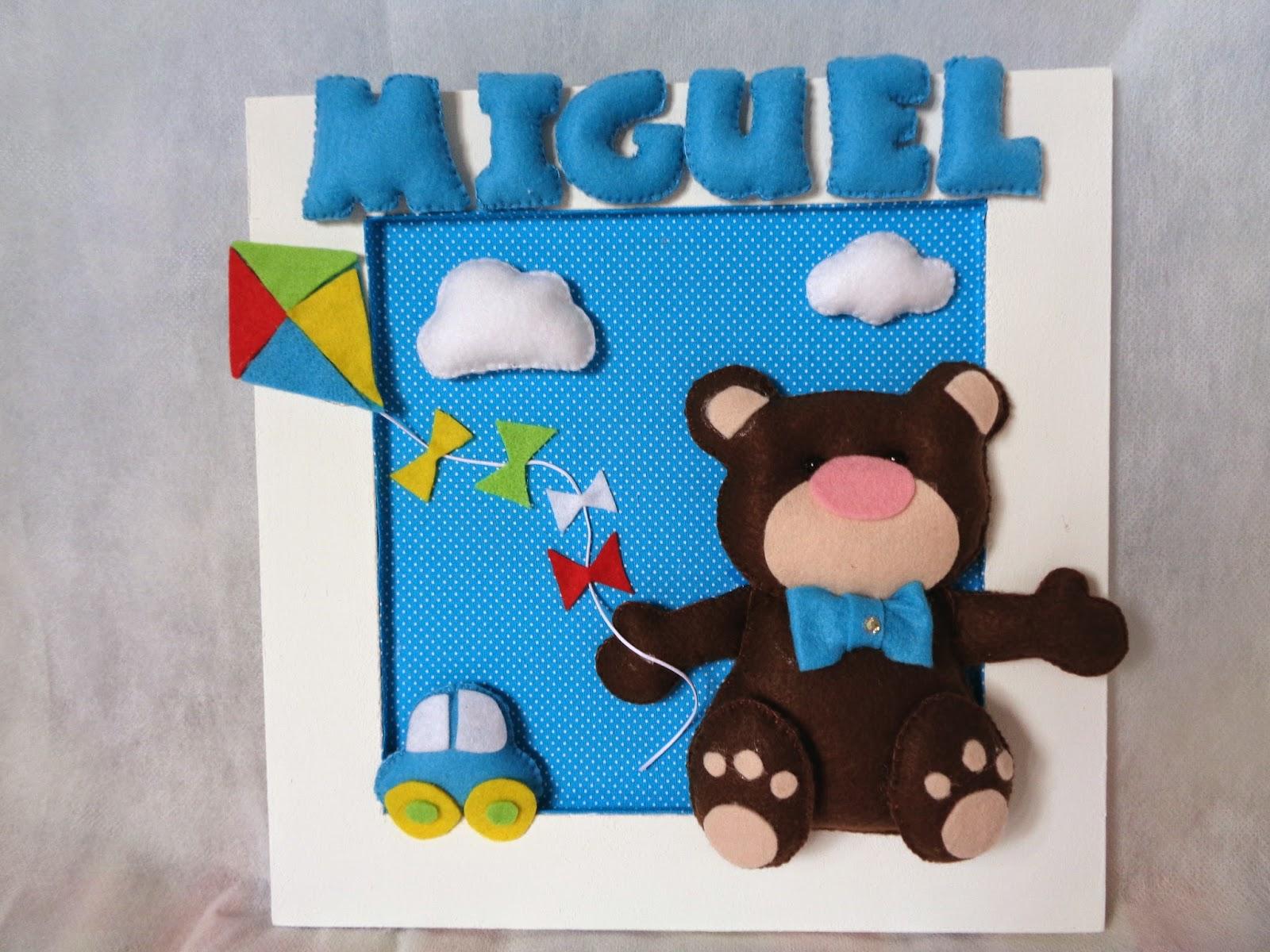 enfeite de porta urso