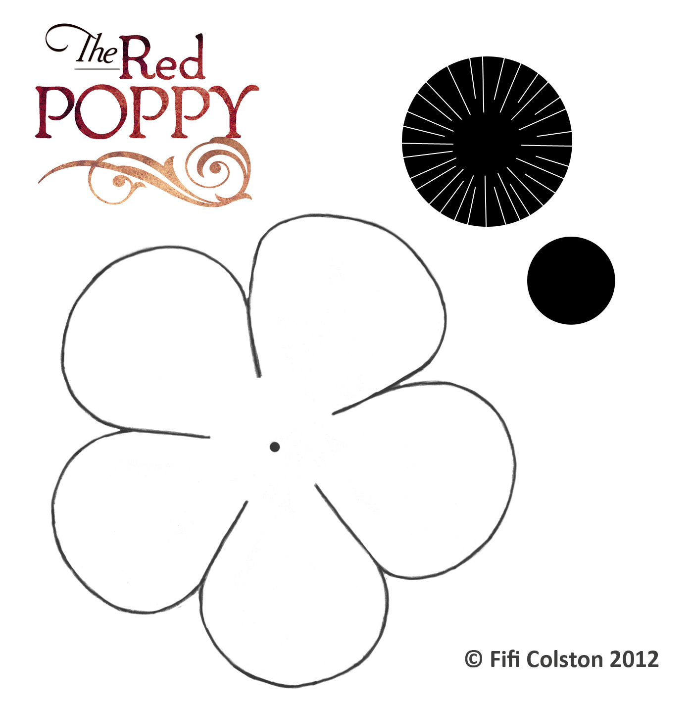 memorial day poppy craft template