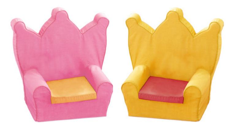 Chambre Rouge Et Noir Et Blanc :  Roumanoff  Deux fauteuils couronne à ner le de katherine roumanoff