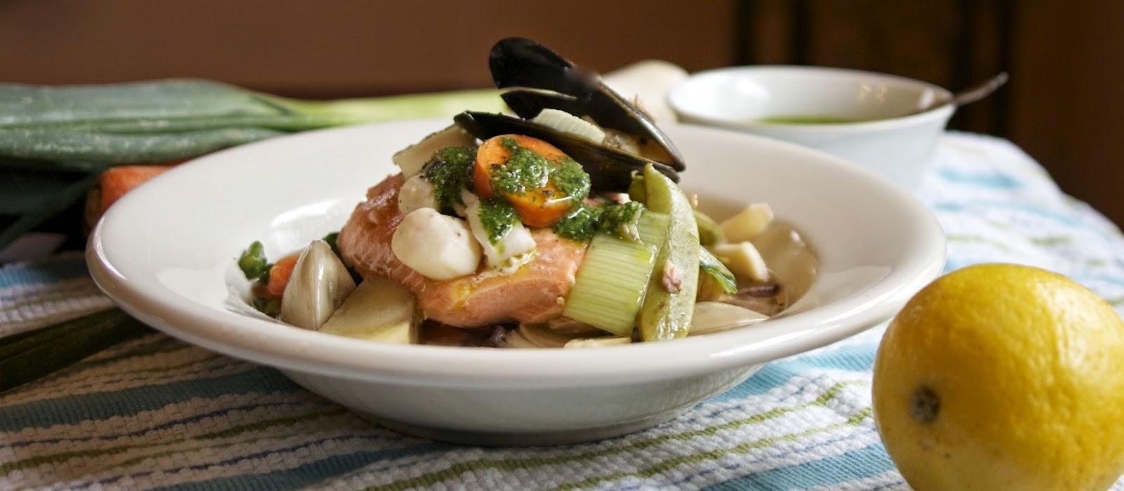 Slow Cooker Seafood Pot-au-Feu-simplelivingeating.com