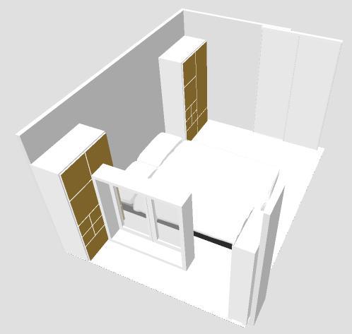 Distribuci n de un dormitorio alargado y estrecho audrey - Mesa auxiliar malm ...