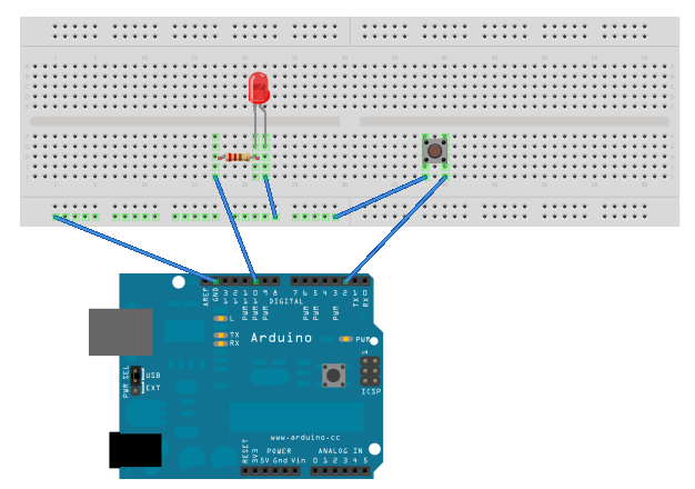 Not just another arduino interrupt based led with