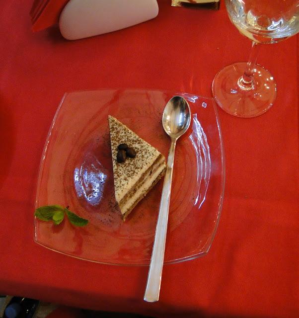 Tiramisu at Bianco Rosso Pasteria, Lviv, West Ukraine