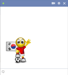 Korea football smiley