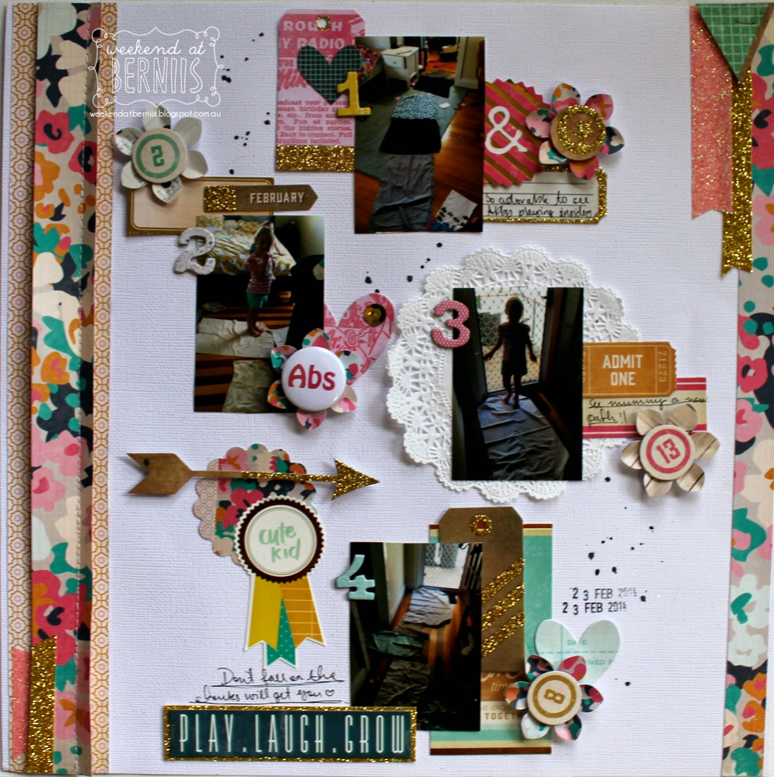 Play, Laugh, Grow layout by Bernii Miller using Craft Market collection by Crate Paper.