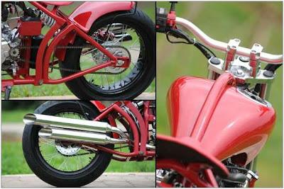 Modifikasi Yamaha Vixion Chopper