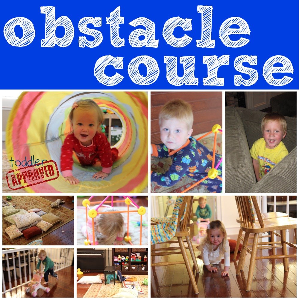 how to create an obstacle course for preschoolers