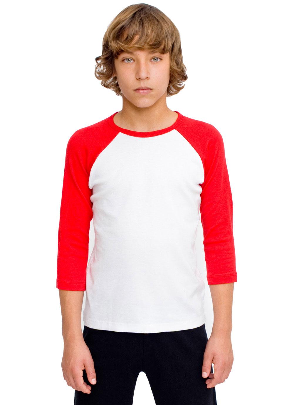 Kids baseball t shirts raglan baby boy girl 3 4 sleeve Boy white t shirt