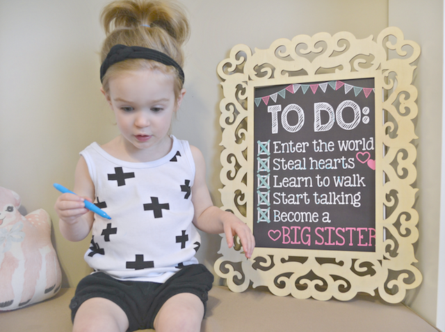 Fawn Over Baby Kenzies ToDo List Announcement From Personalized – Big Sister Birth Announcement