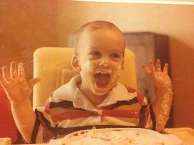 """I loooooove cake! And looking darn adorable with food everywhere on me!"" -Paul in this picture, and just yesterday"