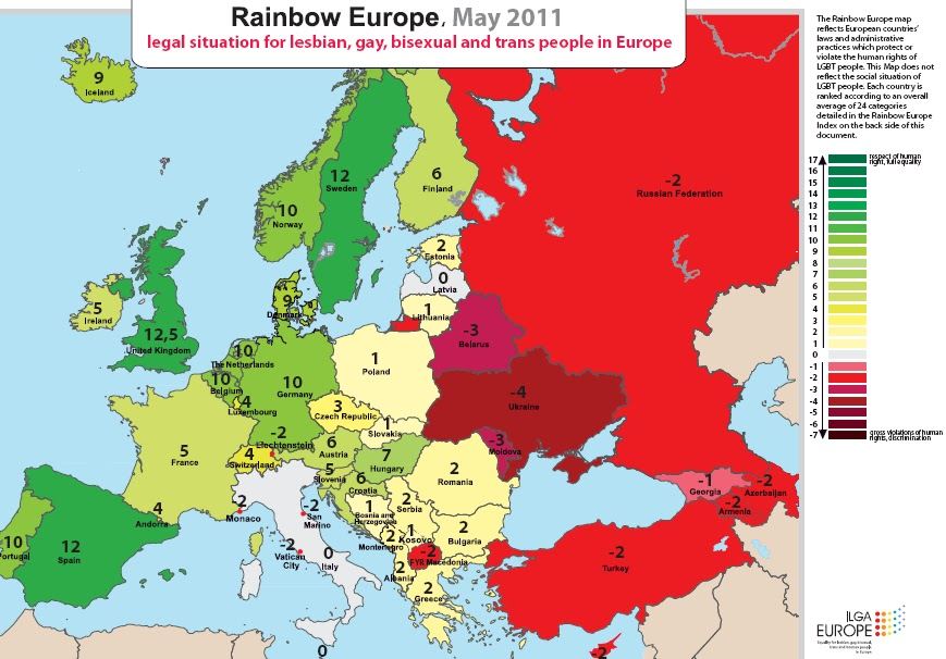 today is the international day against homophobia idaho and a european gay rights group has taken the opportunity to publish an updated map of the human