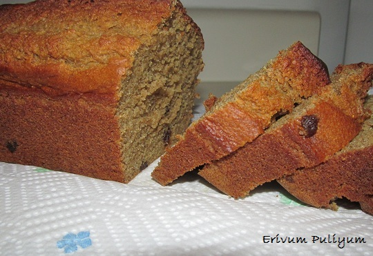 Low Fat Banana Bread (Wheat flour,butterless)