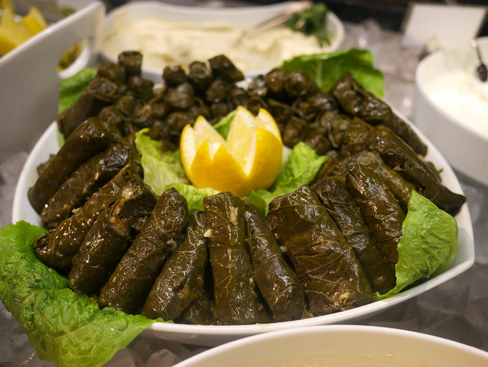 Rodizio Lebanon restaurant Fulham vine leaves