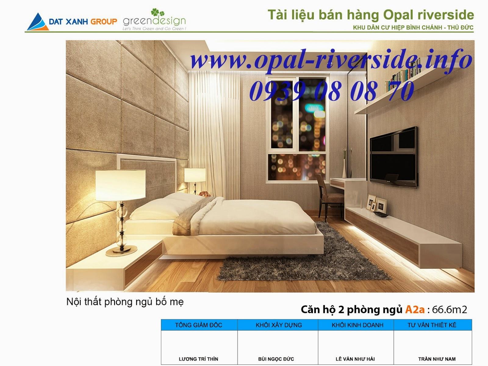 thiết kế căn hộ Opal Riverside