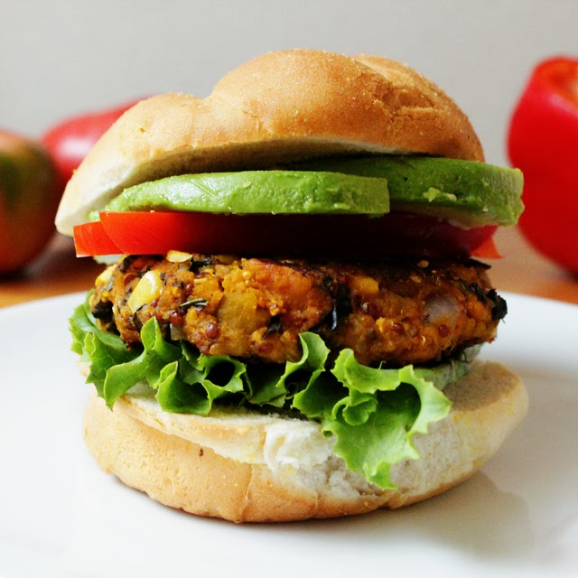 Black Bean & Winter Squash Burger
