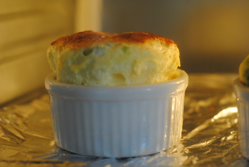 mini egg souffle in toaster