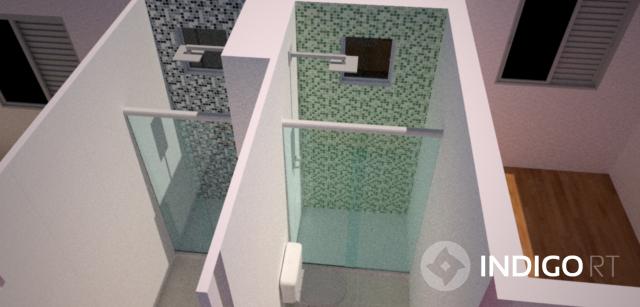 Pastilhas no Banheiro  Dicas do Novo Apê -> Banheiro Com Pastilha Na Parede Do Chuveiro