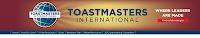 Toastmasters logo - the international not-for-profit public speaking and leadership skills training in Edinburgh
