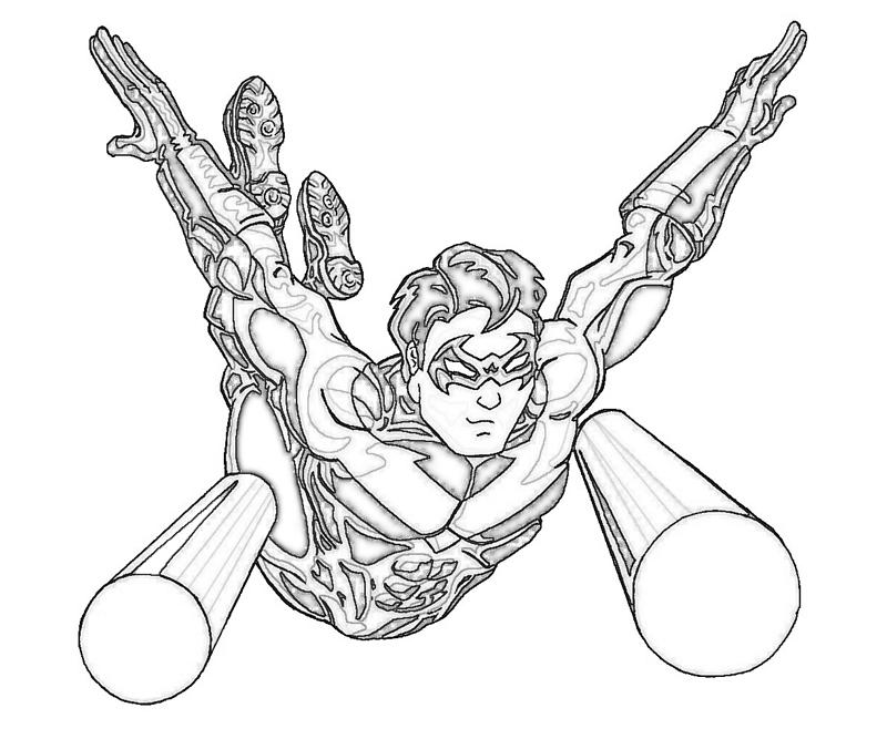 coloring pages of deathstroke injustice - photo#13
