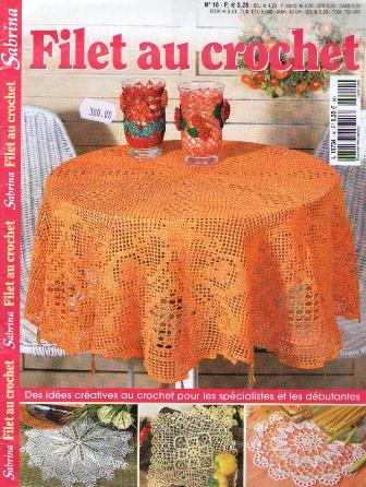 crochet et broderie sabrina filet au crochet juillet 2009. Black Bedroom Furniture Sets. Home Design Ideas