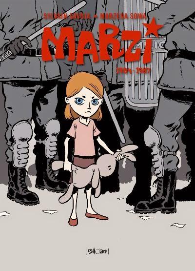 Cover autobiografische strip: Marzi 1984 - 1987. Scenariste Marzena Sowa en striptekenaar Sylvain Savoia
