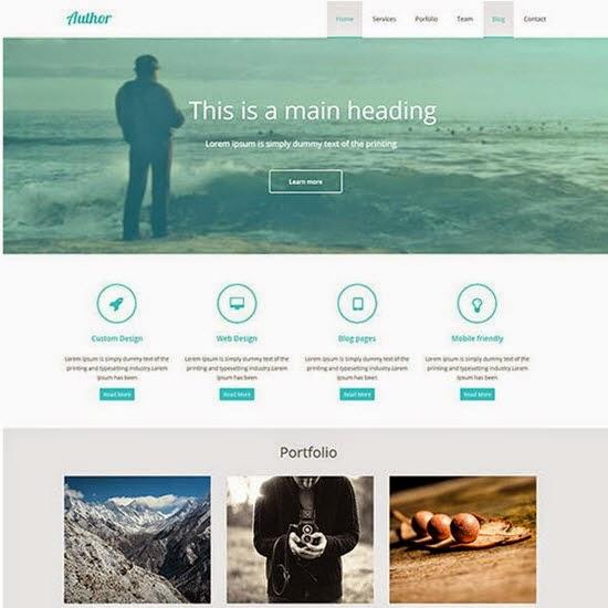 Free Flat HTML Portfolio Template