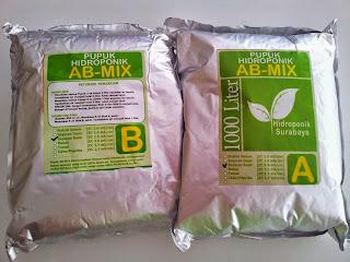 Jual Pupuk AB mix atau Nutrisi khusus Sayuran Buah