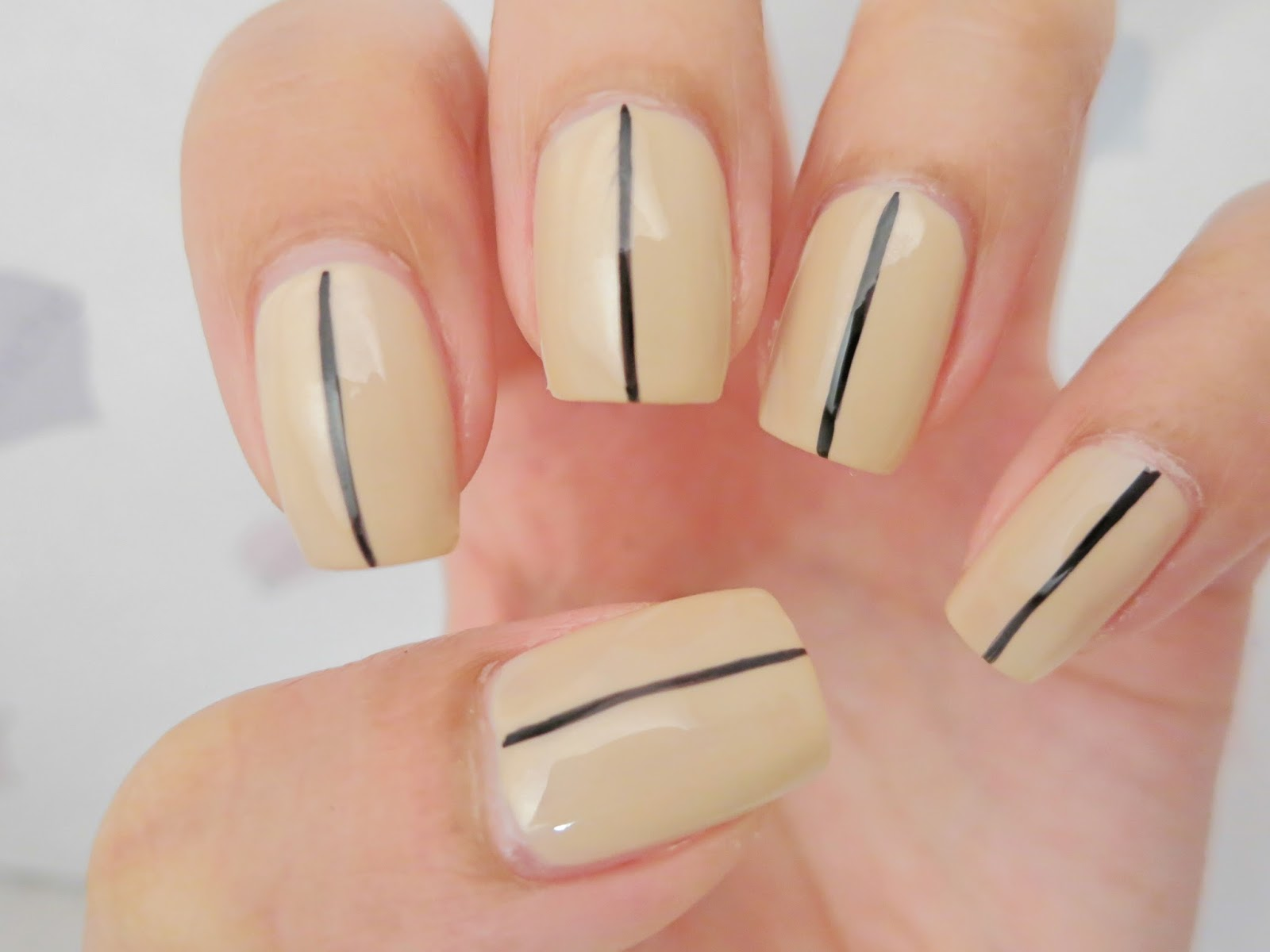 Simple Nail Art for Office and Work - chichicho~