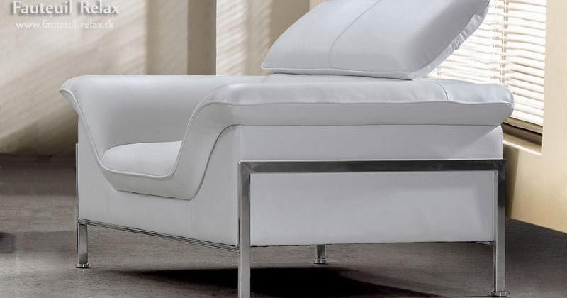 Fauteuil relax design en cuir fauteuil relax - Fauteuil relax design blanc ...